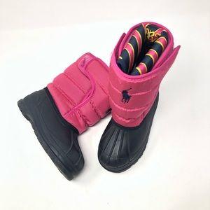 Ralph Lauren | Toddler Pink Nylon Snow Boots
